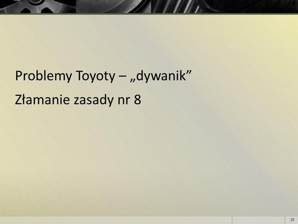 """Problemy Toyoty – """"dywanik Złamanie zasady nr 8"""