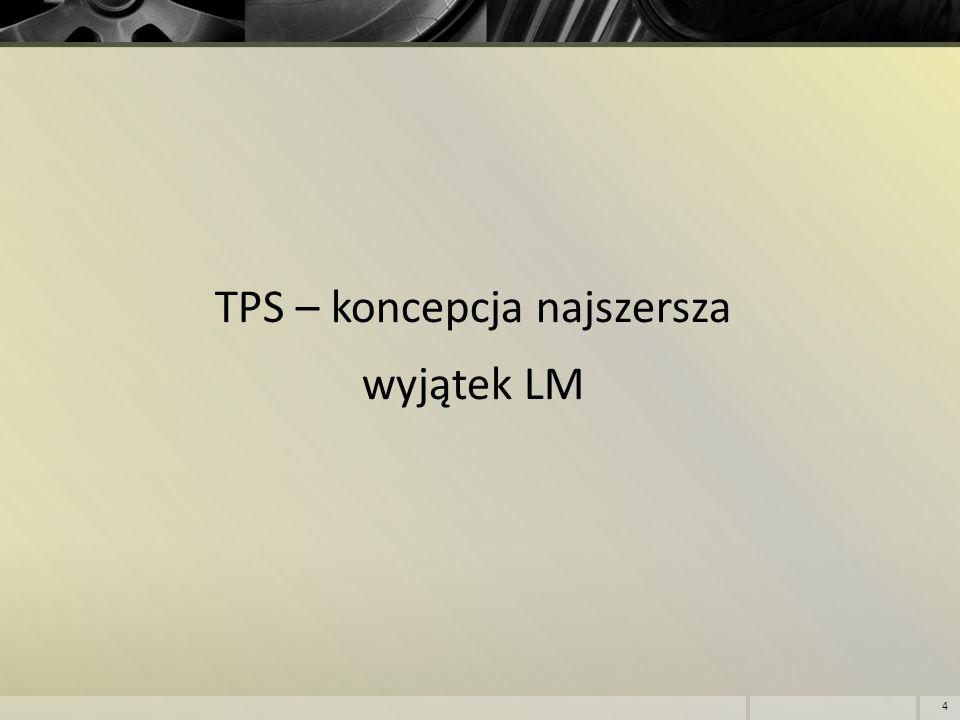 TPS – koncepcja najszersza wyjątek LM