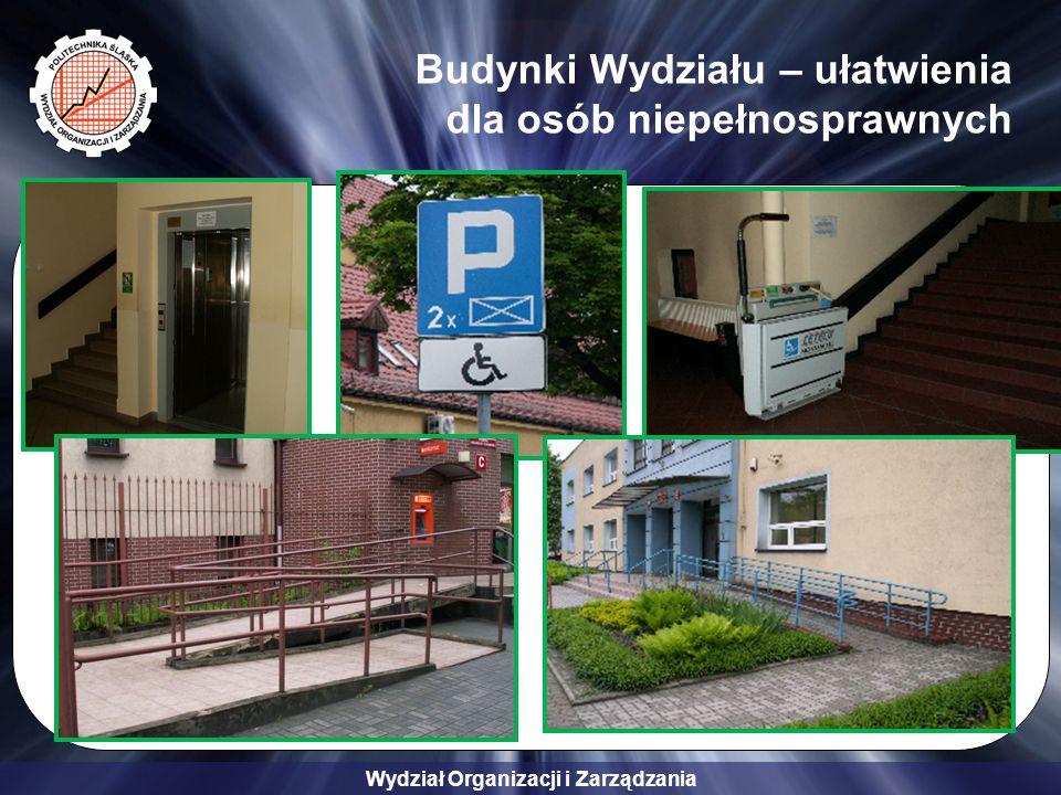 Budynki Wydziału – ułatwienia dla osób niepełnosprawnych