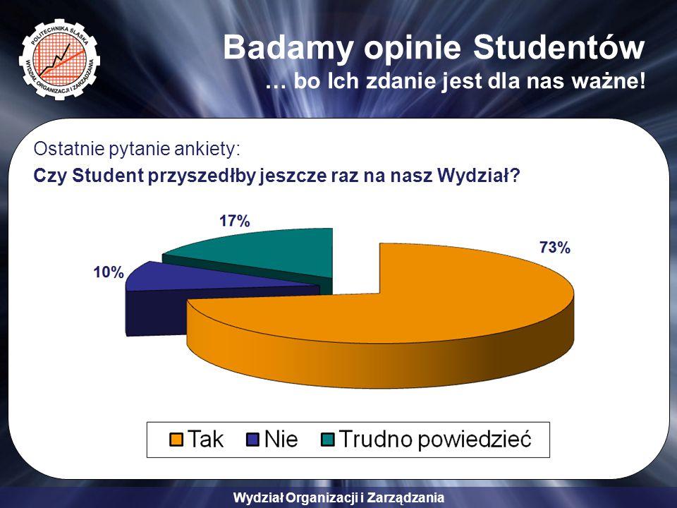 Badamy opinie Studentów … bo Ich zdanie jest dla nas ważne!