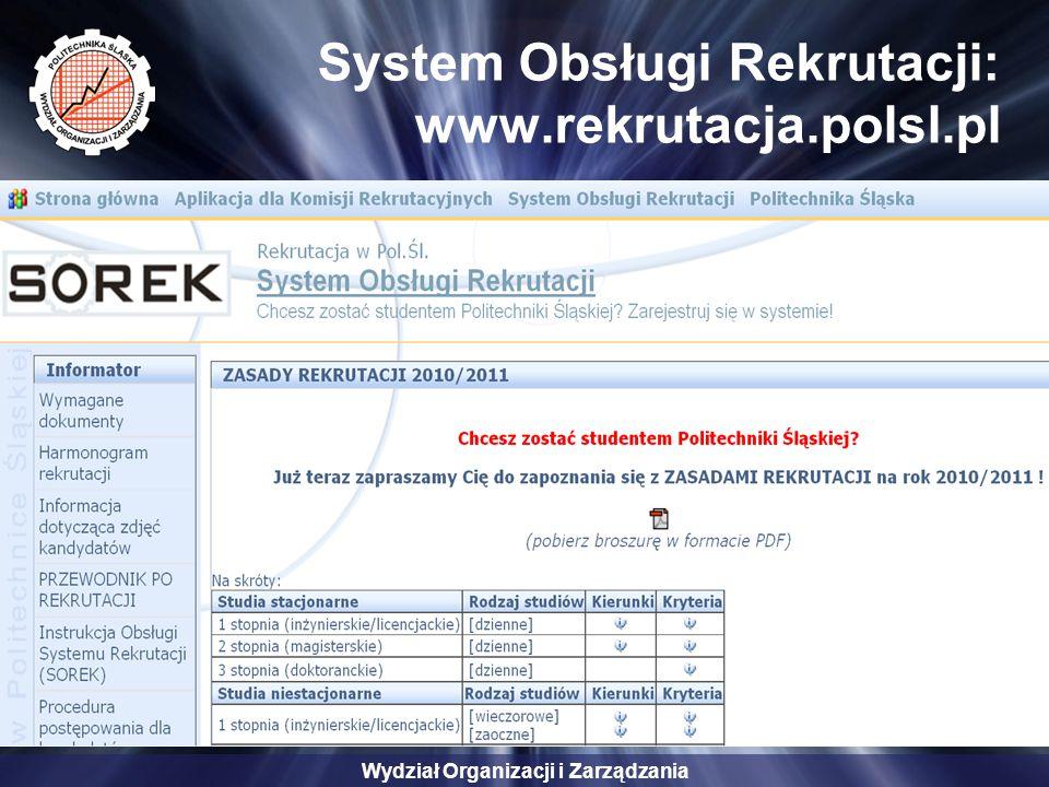 System Obsługi Rekrutacji: www.rekrutacja.polsl.pl