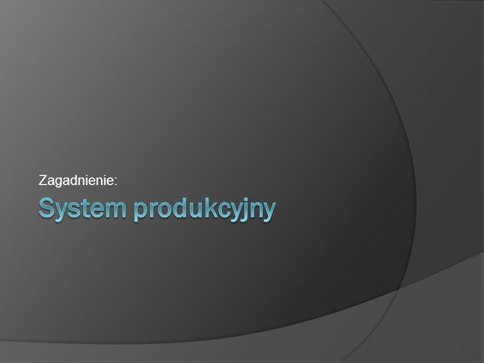 Zagadnienie: System produkcyjny