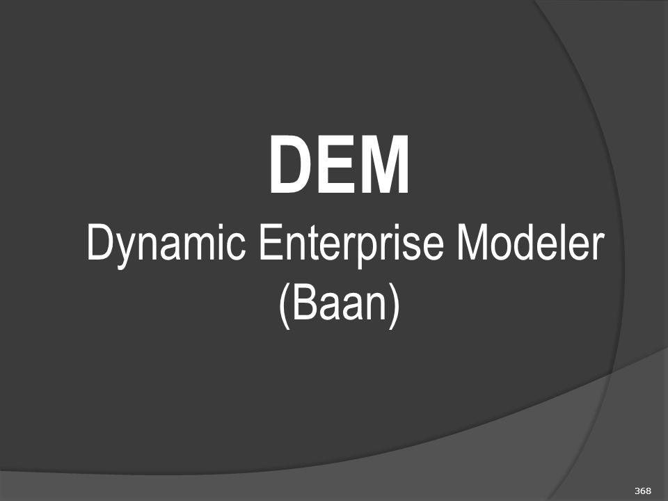 DEM Dynamic Enterprise Modeler (Baan)