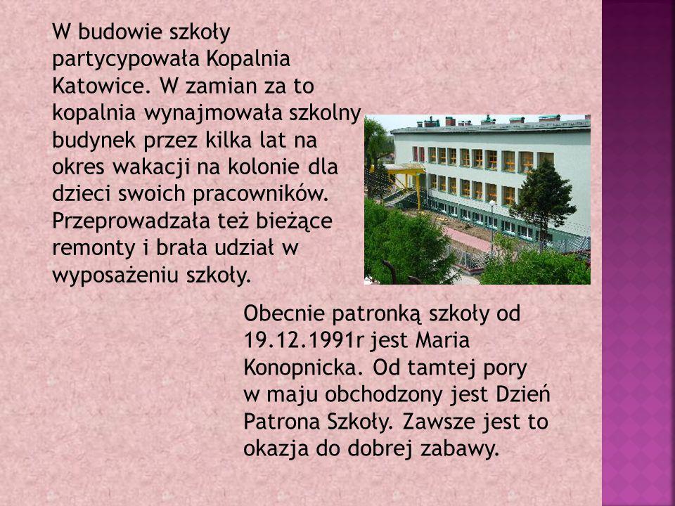 W budowie szkoły partycypowała Kopalnia Katowice