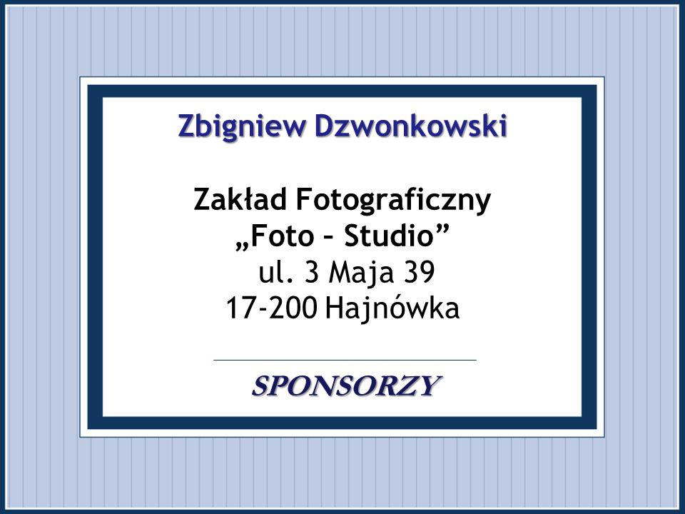 """Zbigniew Dzwonkowski Zakład Fotograficzny """"Foto – Studio ul"""