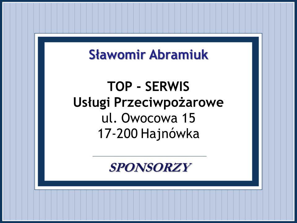 Sławomir Abramiuk TOP - SERWIS Usługi Przeciwpożarowe ul