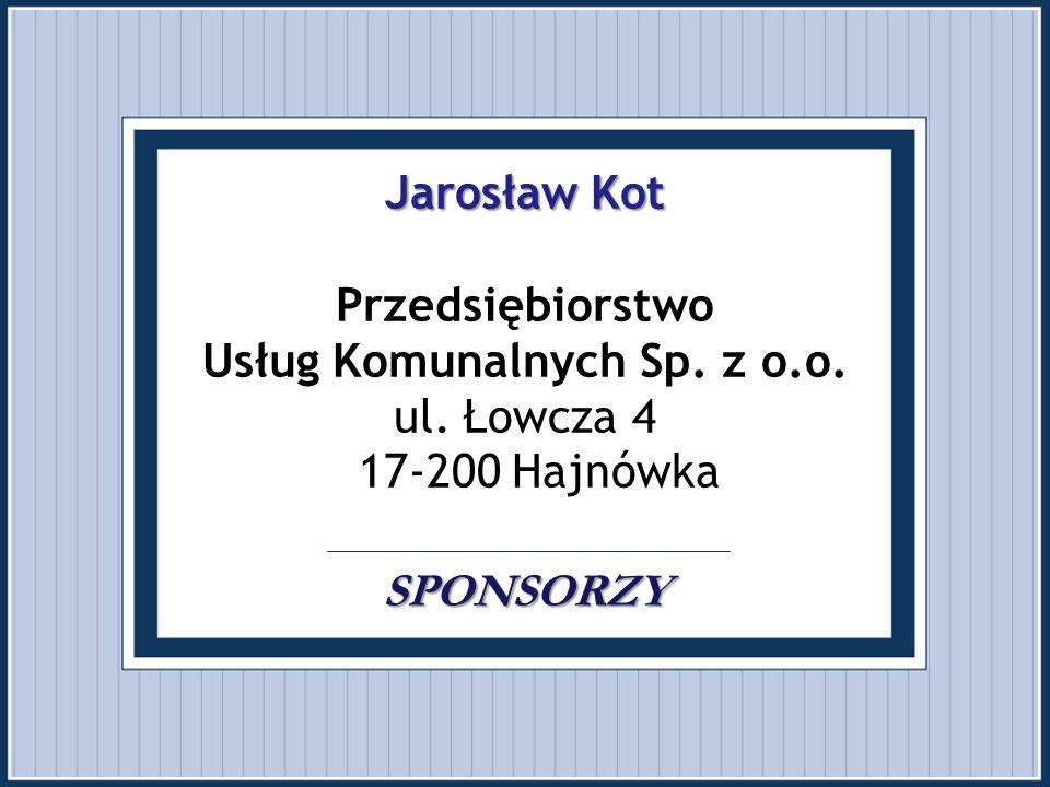 Jarosław Kot Przedsiębiorstwo Usług Komunalnych Sp. z o. o. ul