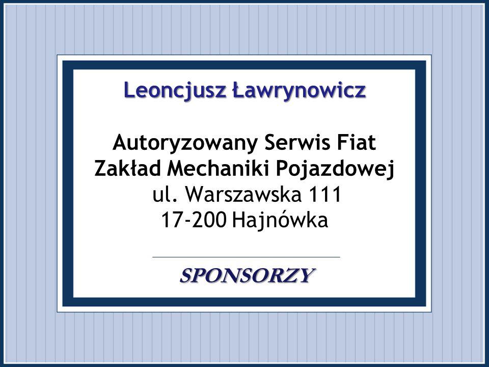 Leoncjusz Ławrynowicz Autoryzowany Serwis Fiat Zakład Mechaniki Pojazdowej ul.