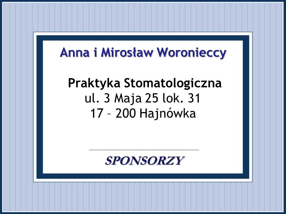 Anna i Mirosław Woronieccy Praktyka Stomatologiczna ul. 3 Maja 25 lok