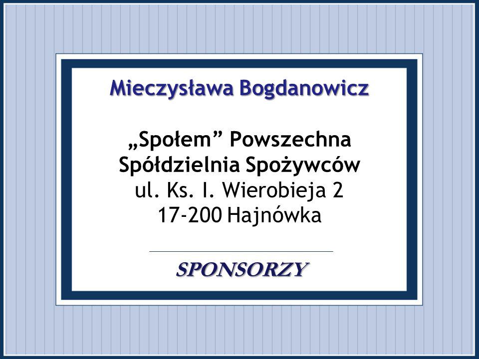 """Mieczysława Bogdanowicz """"Społem Powszechna Spółdzielnia Spożywców ul"""