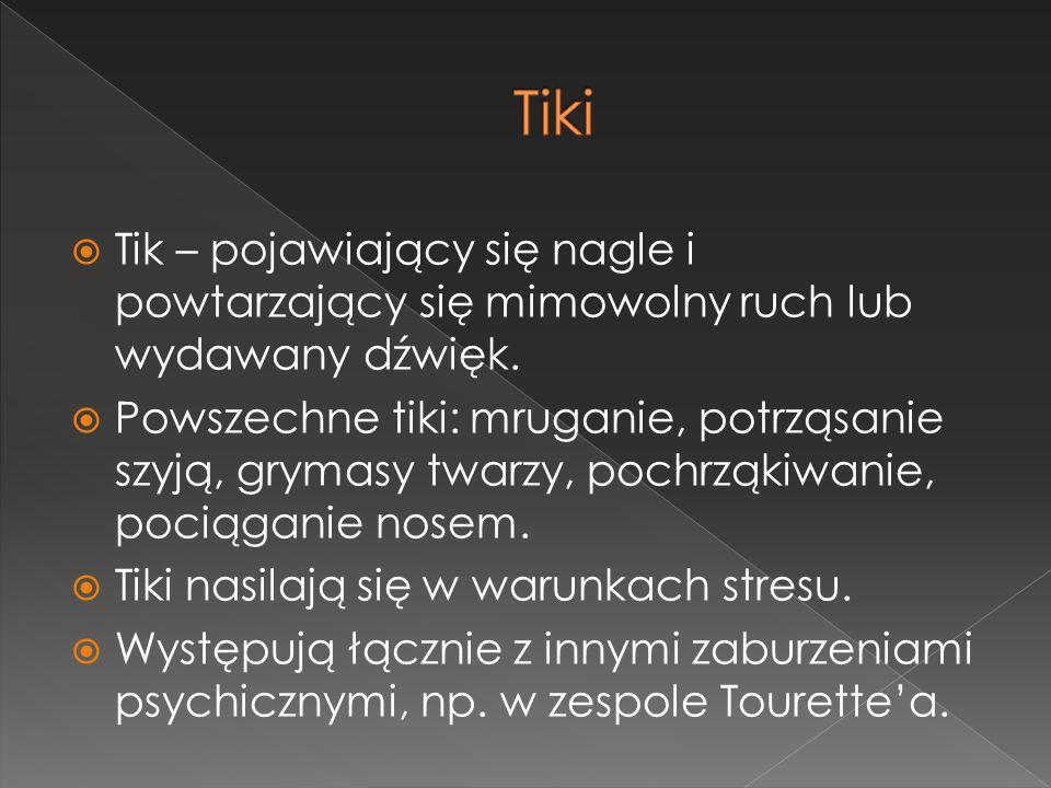 Tiki Tik – pojawiający się nagle i powtarzający się mimowolny ruch lub wydawany dźwięk.
