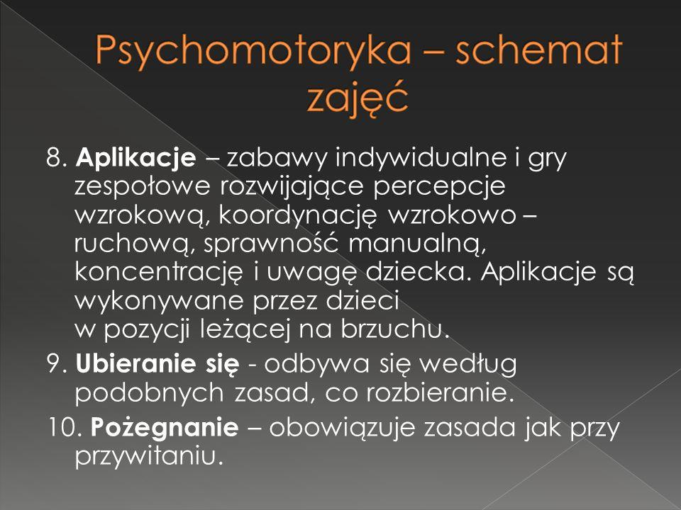 Psychomotoryka – schemat zajęć
