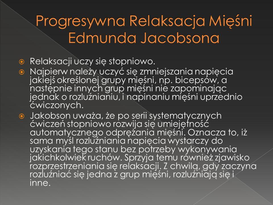 Progresywna Relaksacja Mięśni Edmunda Jacobsona