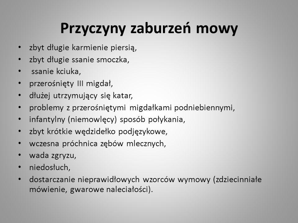 Przyczyny zaburzeń mowy