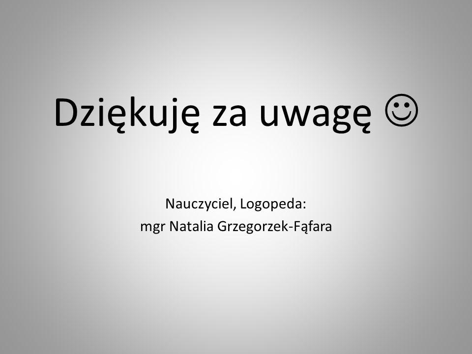 mgr Natalia Grzegorzek-Fąfara