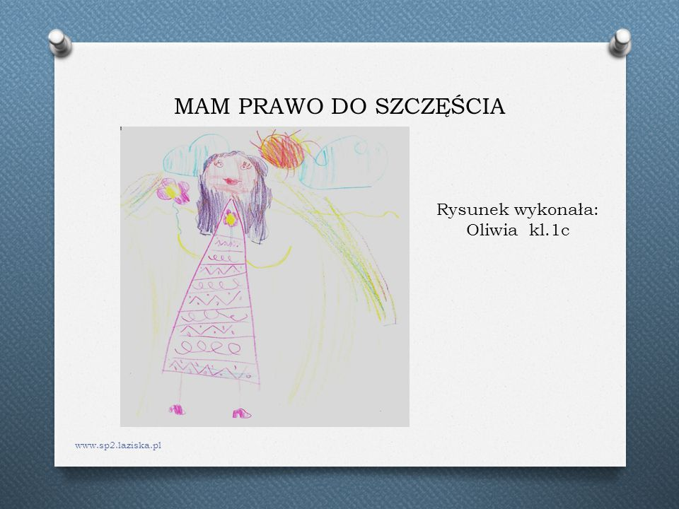 MAM PRAWO DO SZCZĘŚCIA Rysunek wykonała: Oliwia kl.1c