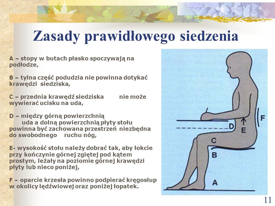 Zasady prawidłowego siedzenia