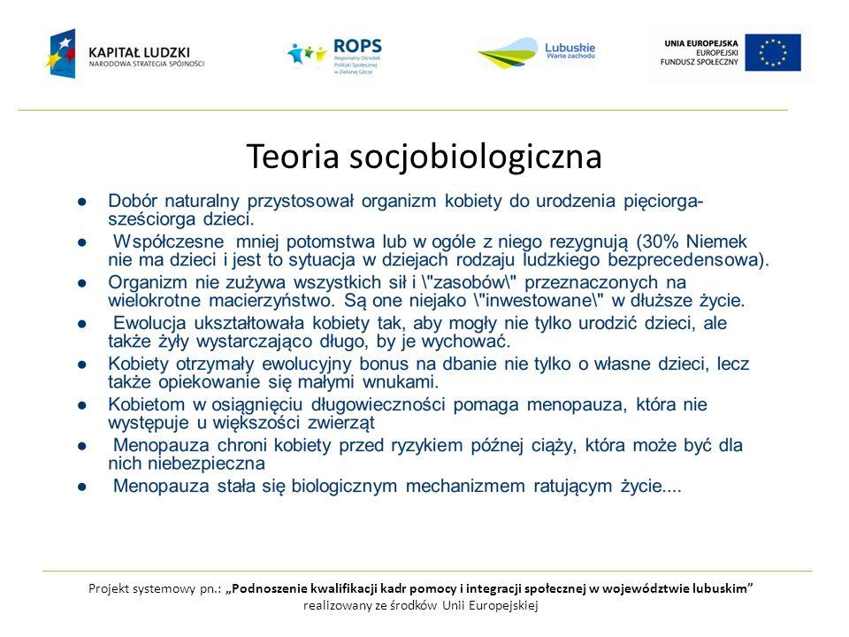 Teoria socjobiologiczna