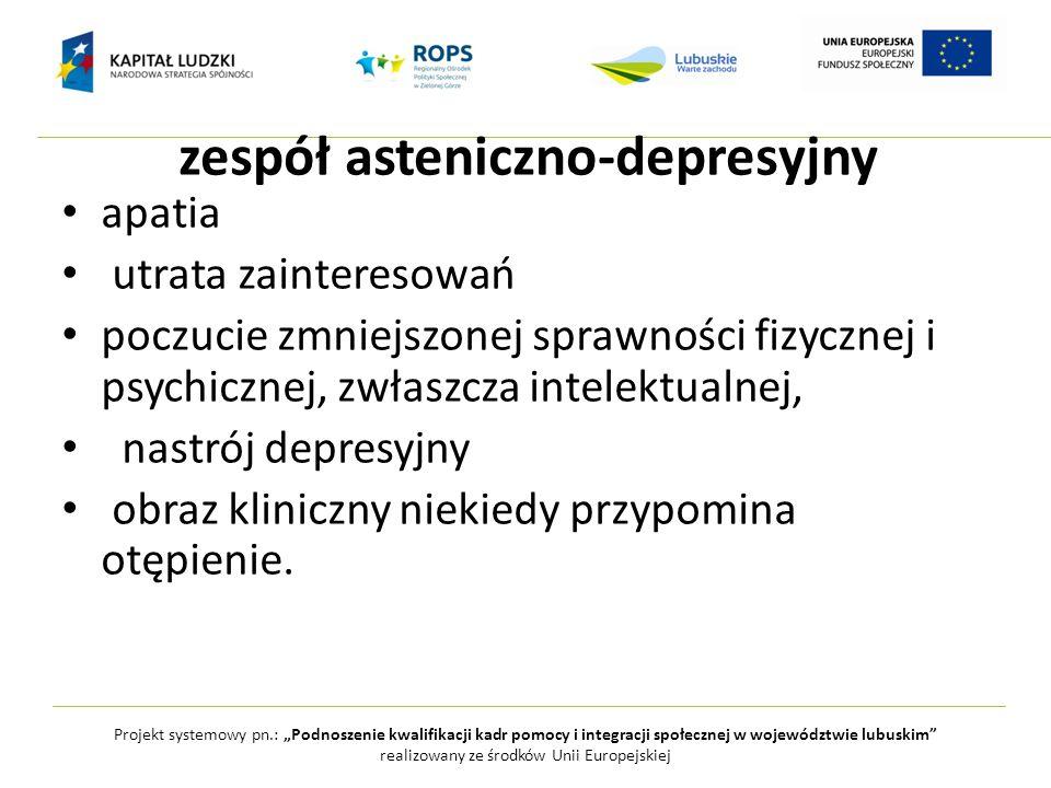 zespół asteniczno-depresyjny