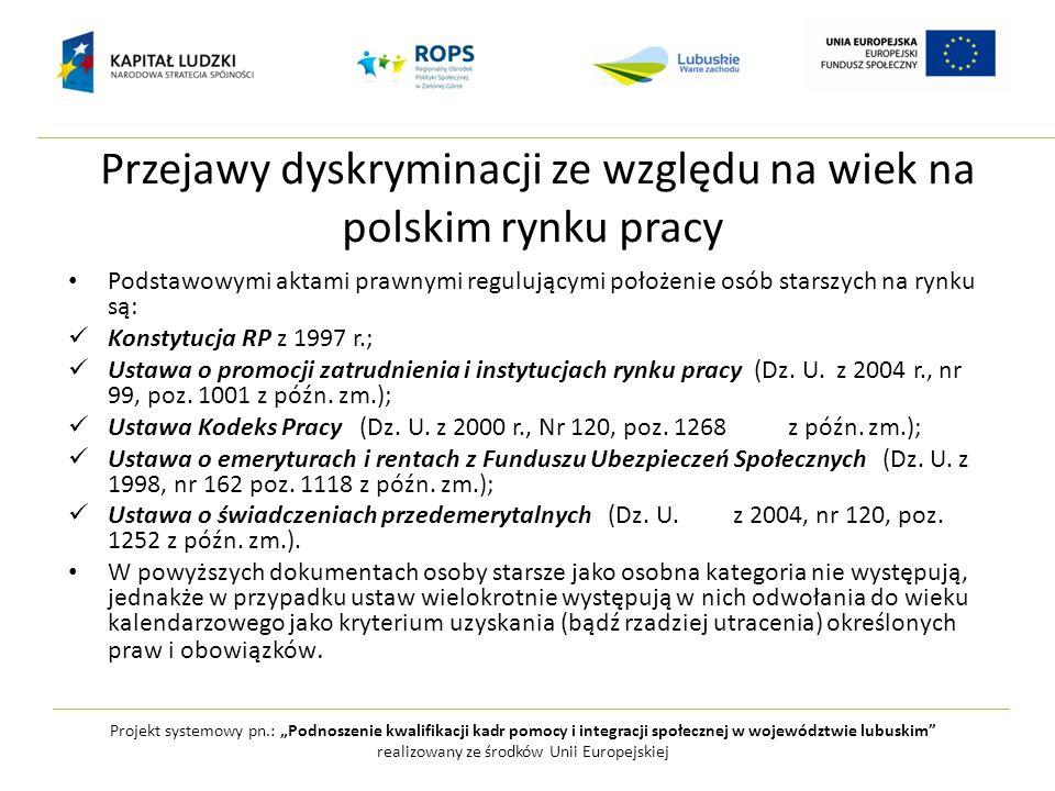 Przejawy dyskryminacji ze względu na wiek na polskim rynku pracy