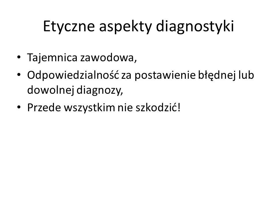 Etyczne aspekty diagnostyki