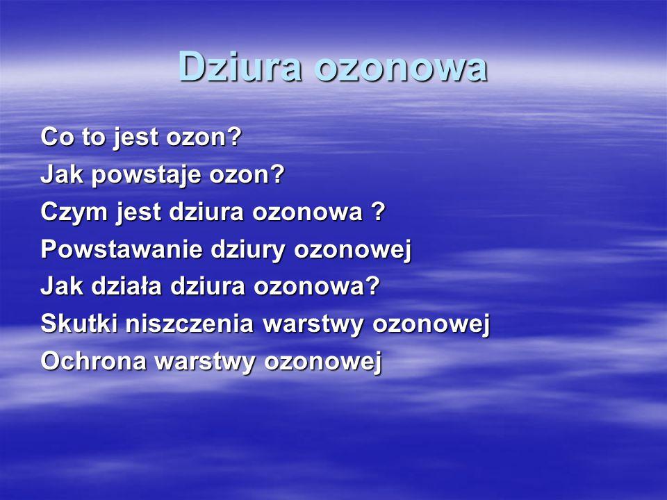 Dziura ozonowa Co to jest ozon Jak powstaje ozon