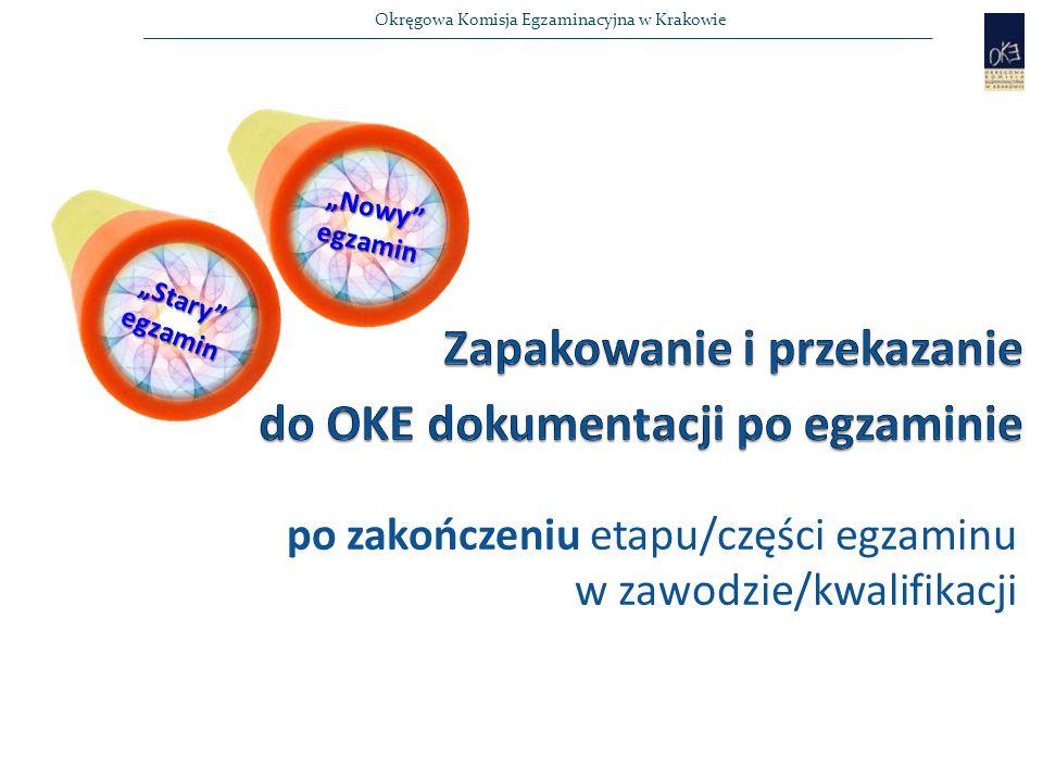 Zapakowanie i przekazanie do OKE dokumentacji po egzaminie