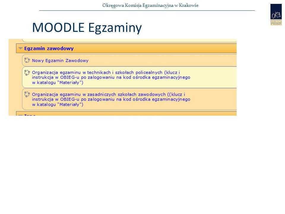 MOODLE Egzaminy