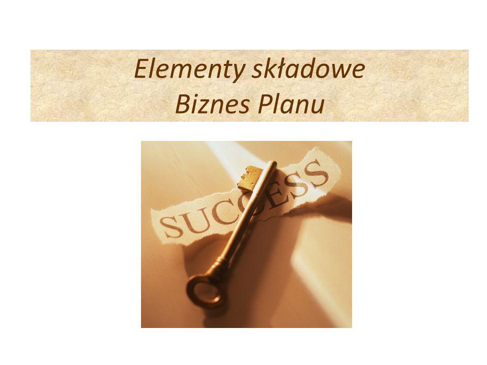 Elementy składowe Biznes Planu