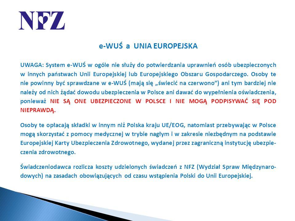 e-WUŚ a UNIA EUROPEJSKA