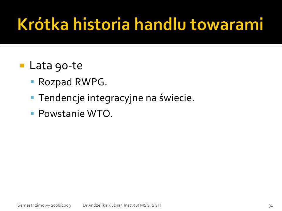 Krótka historia handlu towarami