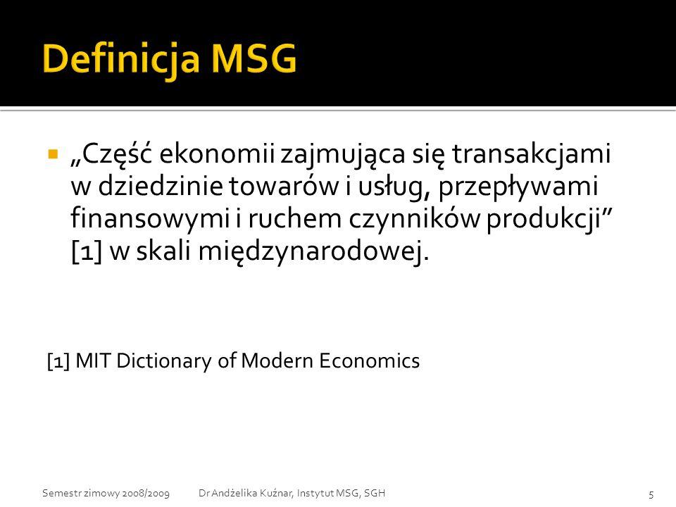 Definicja MSG