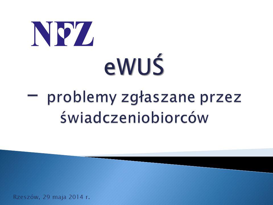 eWUŚ - problemy zgłaszane przez świadczeniobiorców