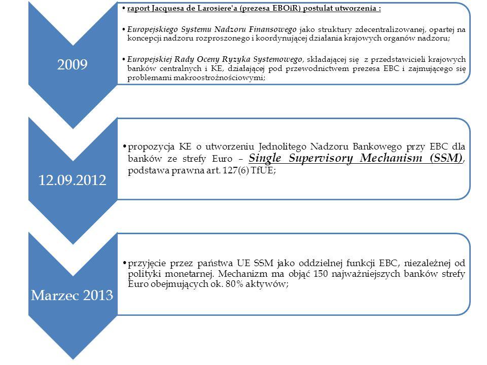 2009 raport Jacquesa de Larosiere a (prezesa EBOiR) postulat utworzenia :