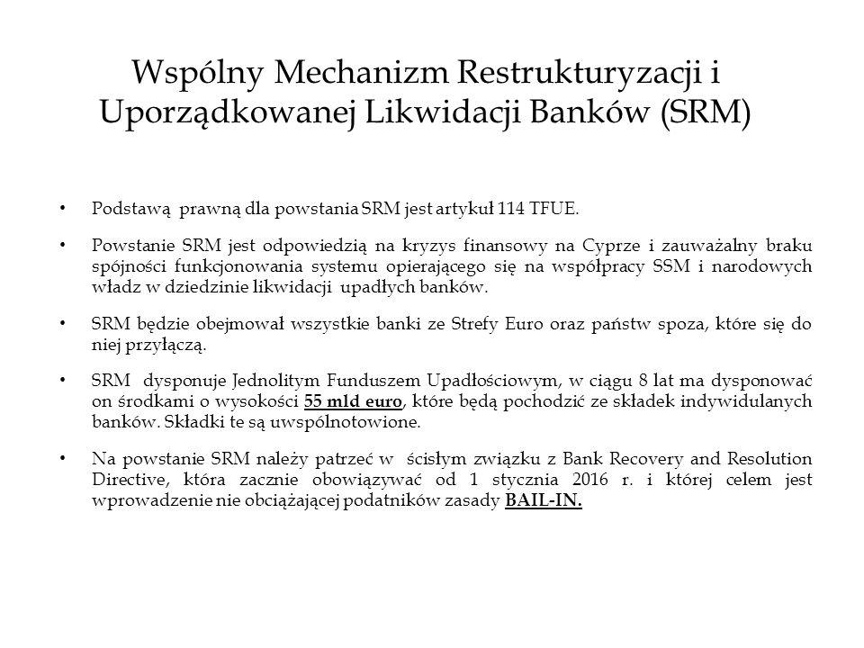 Wspólny Mechanizm Restrukturyzacji i Uporządkowanej Likwidacji Banków (SRM)