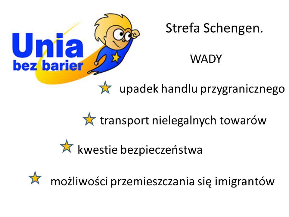 Strefa Schengen. WADY upadek handlu przygranicznego