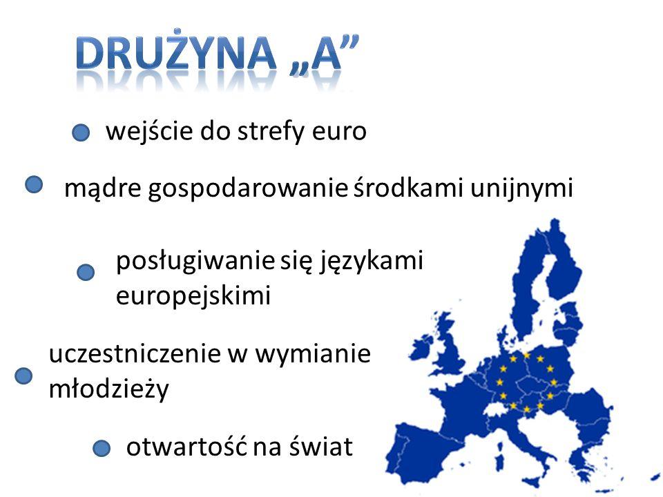 """DRUŻYNA """"A wejście do strefy euro"""