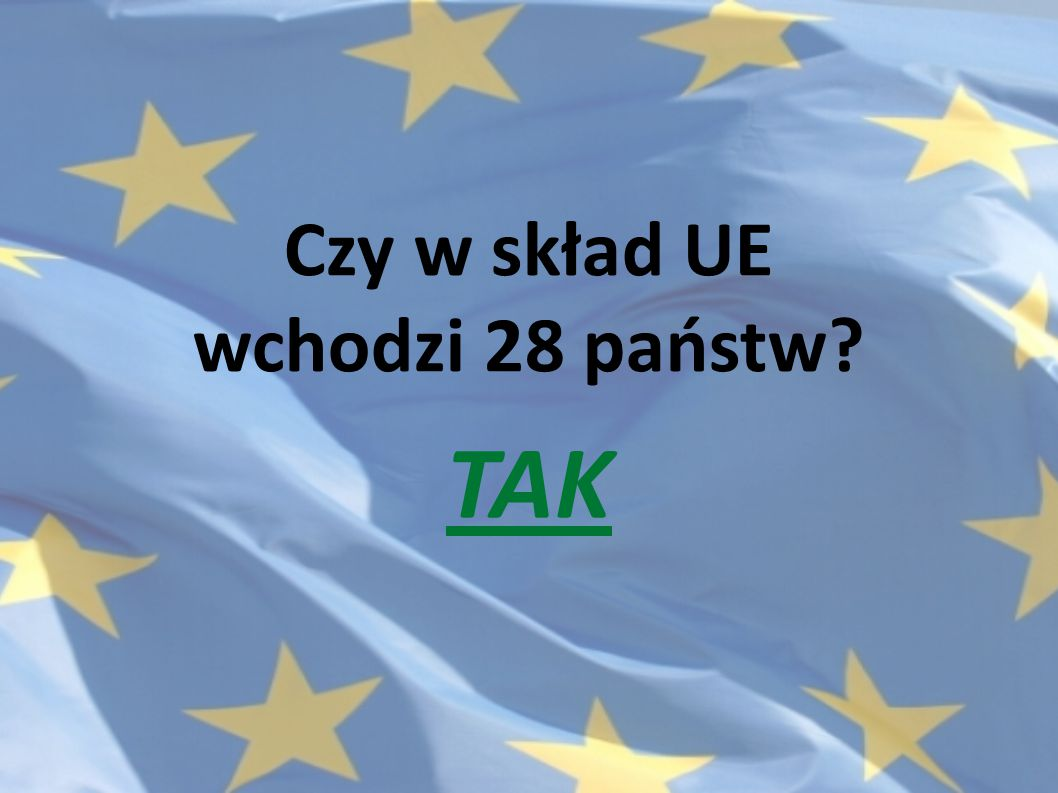 Czy w skład UE wchodzi 28 państw