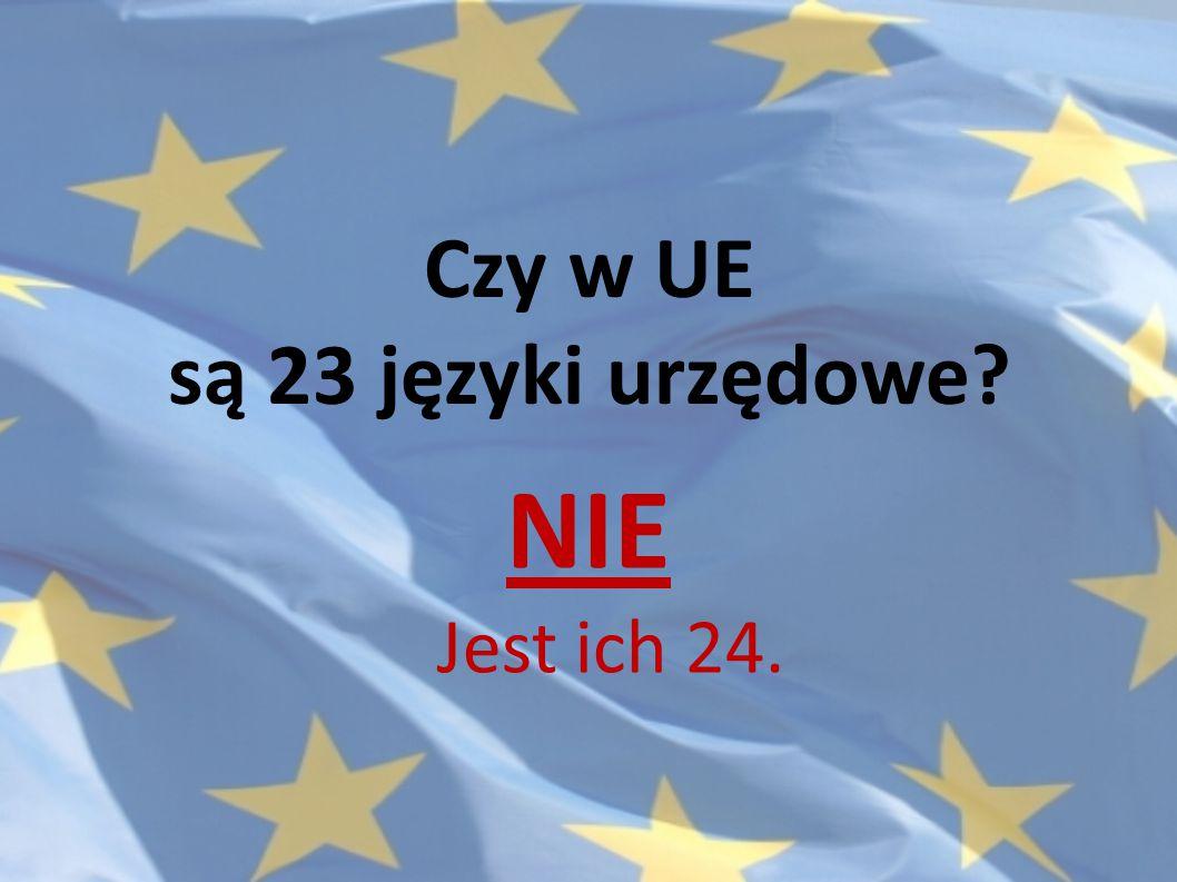 Czy w UE są 23 języki urzędowe