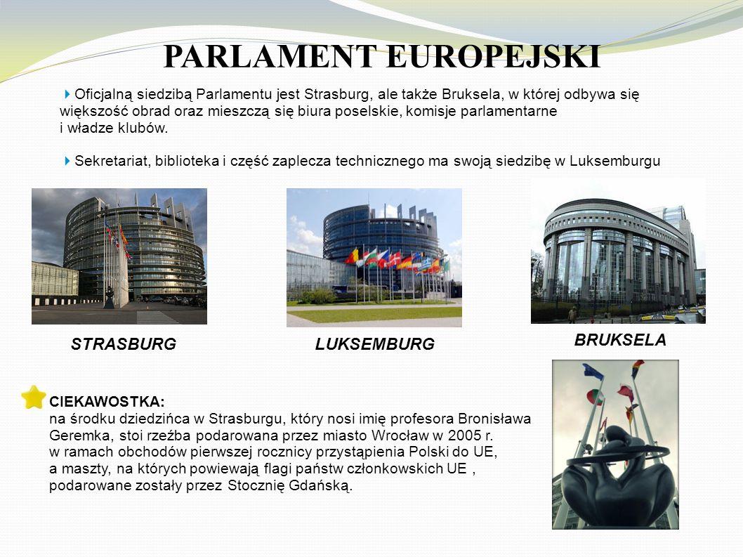 PARLAMENT EUROPEJSKI STRASBURG LUKSEMBURG BRUKSELA
