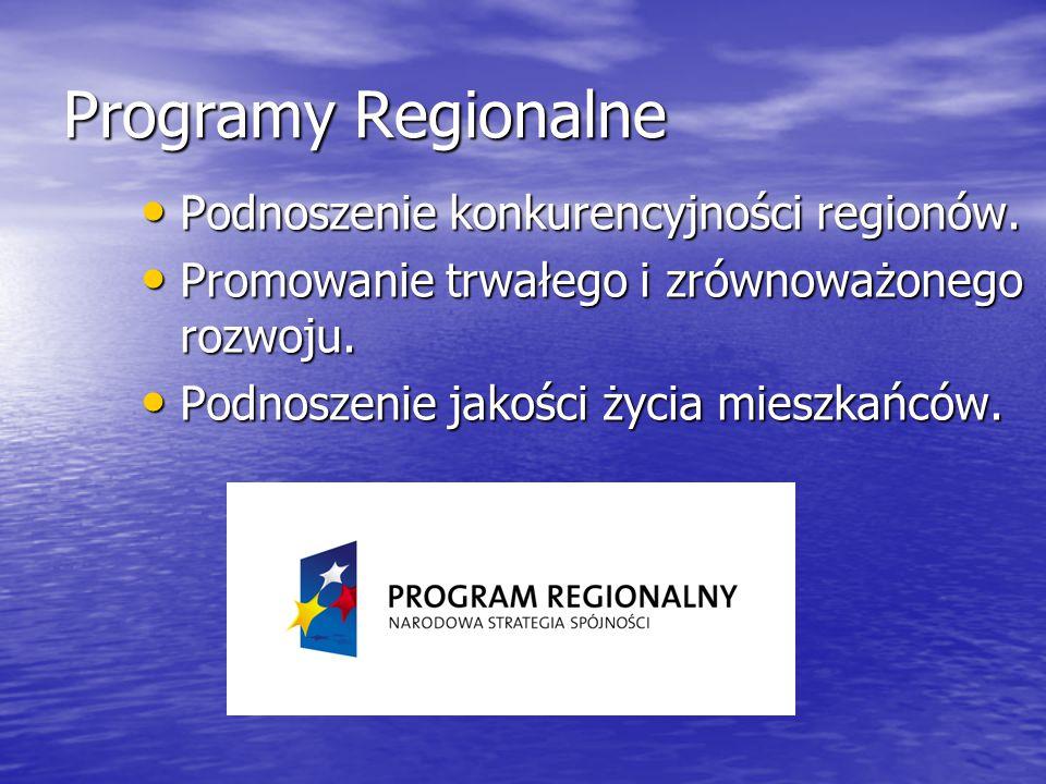 Programy Regionalne Podnoszenie konkurencyjności regionów.