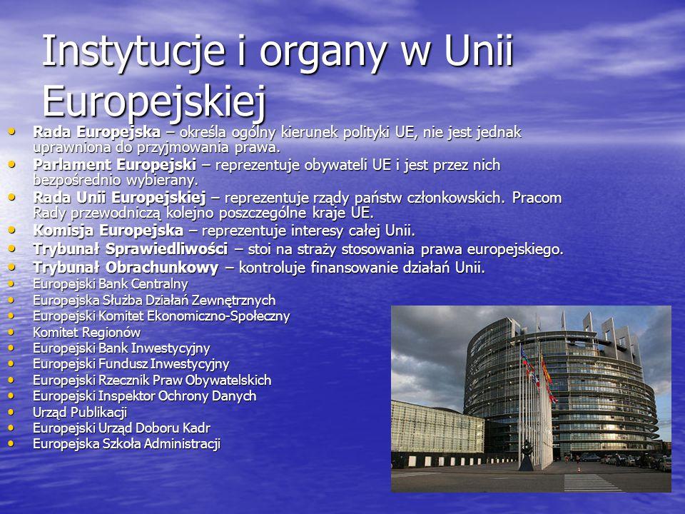 Instytucje i organy w Unii Europejskiej