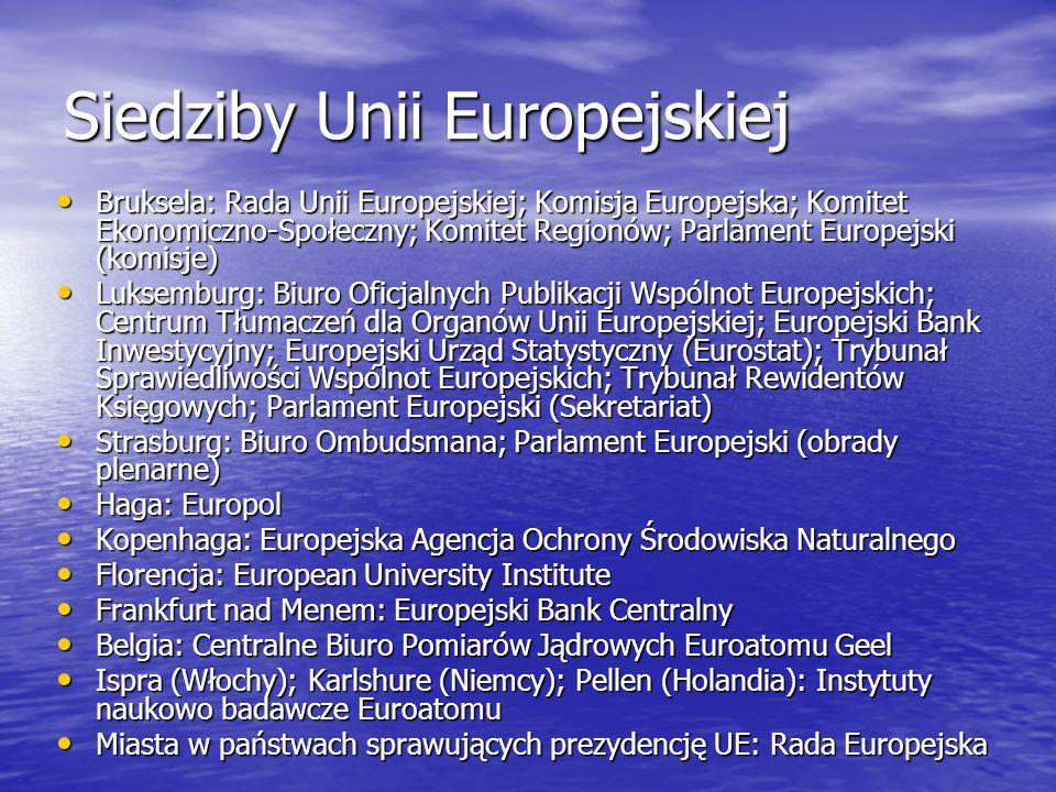 Siedziby Unii Europejskiej