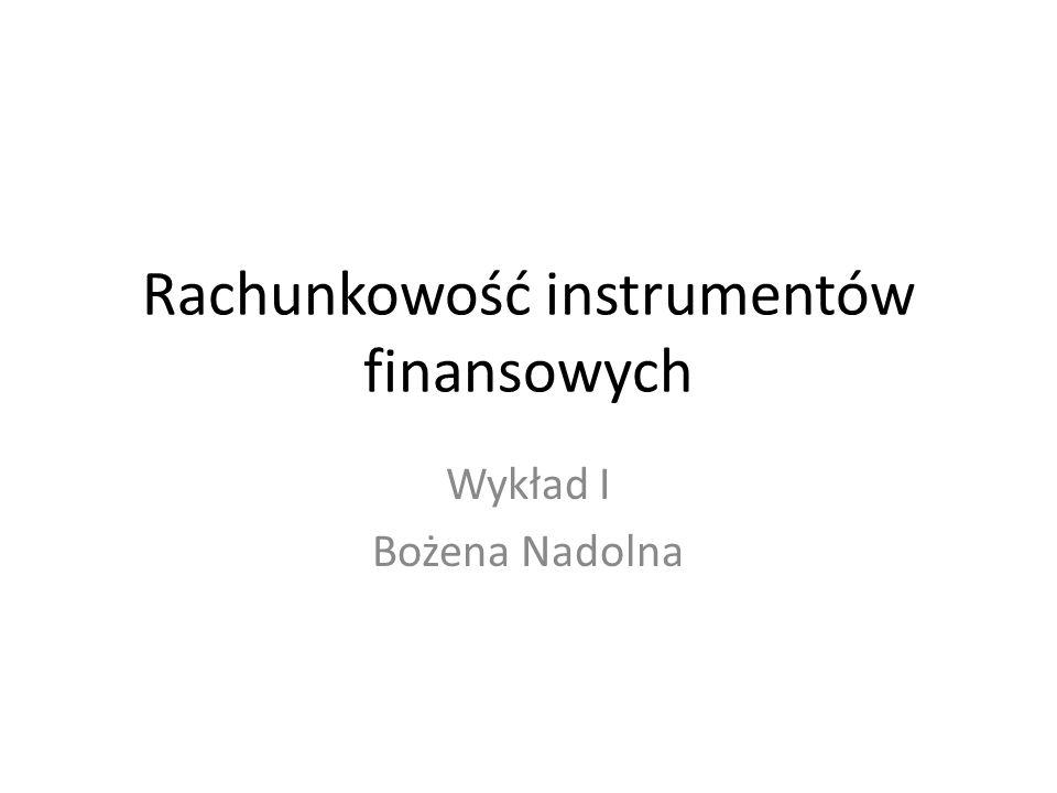 Rachunkowość instrumentów finansowych