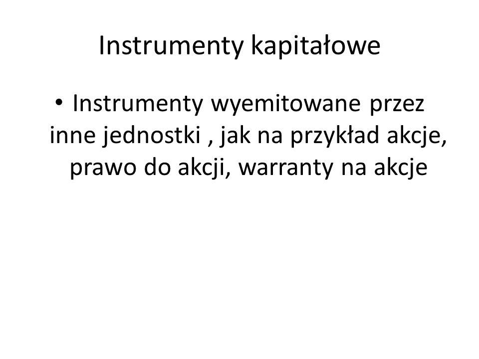 Instrumenty kapitałowe