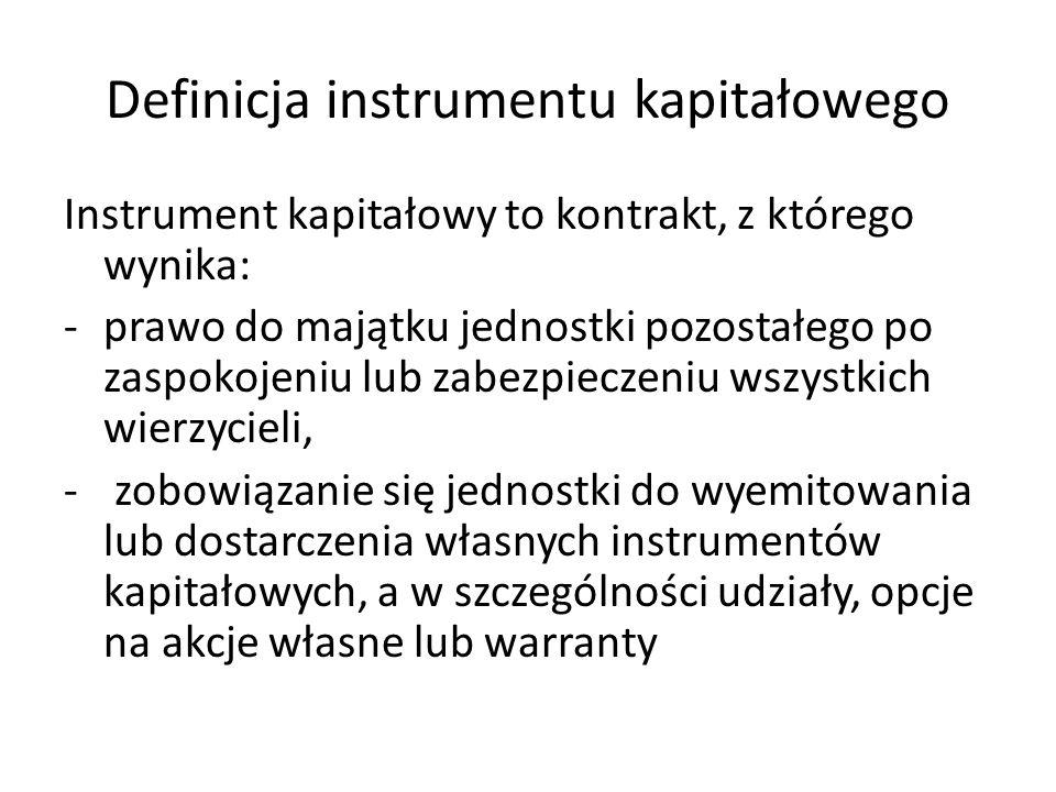 Definicja instrumentu kapitałowego