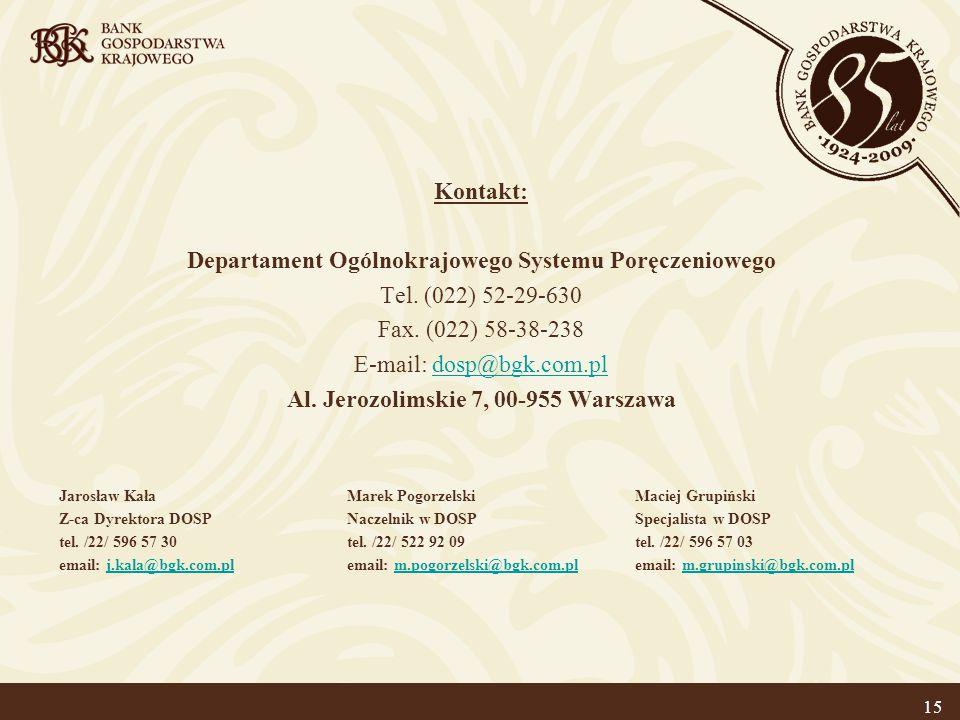 Departament Ogólnokrajowego Systemu Poręczeniowego