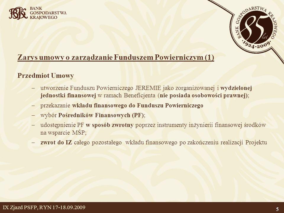 Zarys umowy o zarządzanie Funduszem Powierniczym (1)