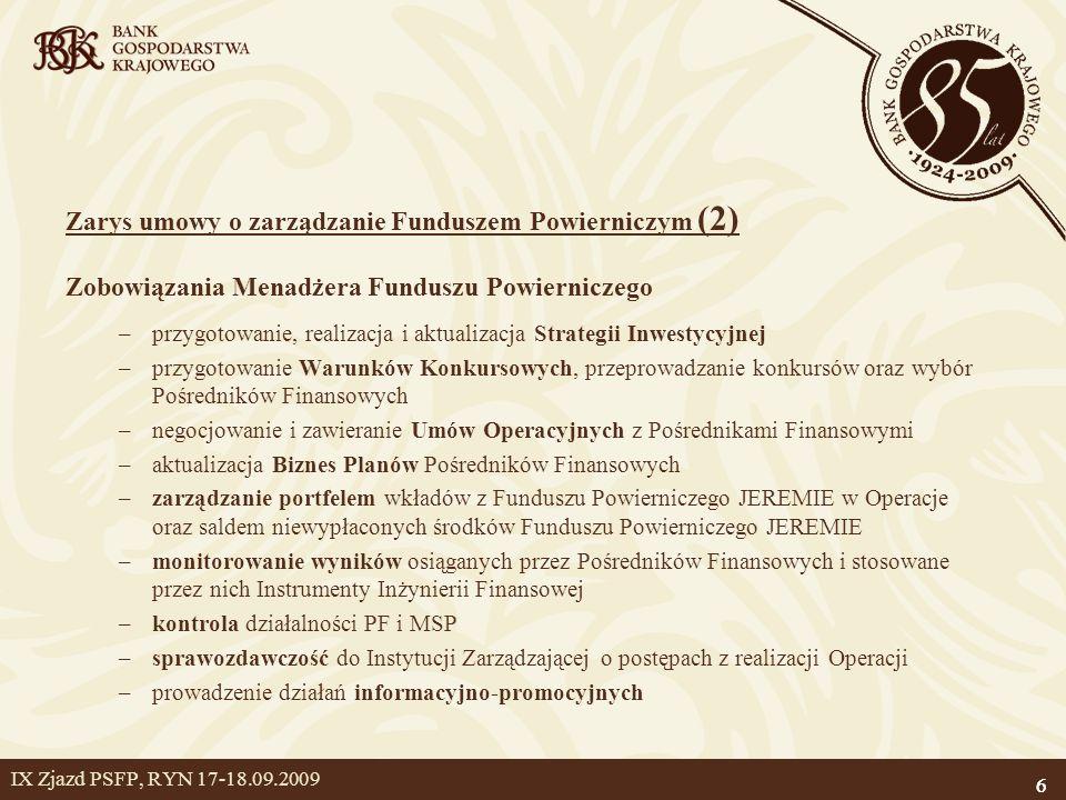 Zarys umowy o zarządzanie Funduszem Powierniczym (2)