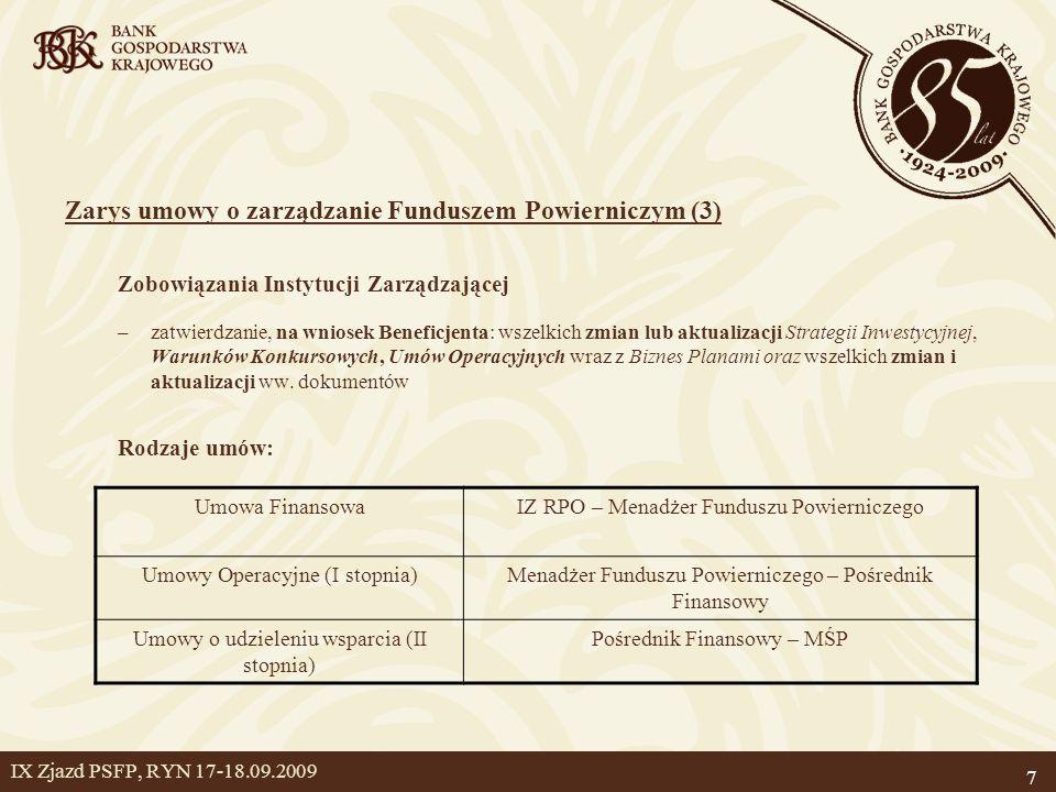 Zarys umowy o zarządzanie Funduszem Powierniczym (3)